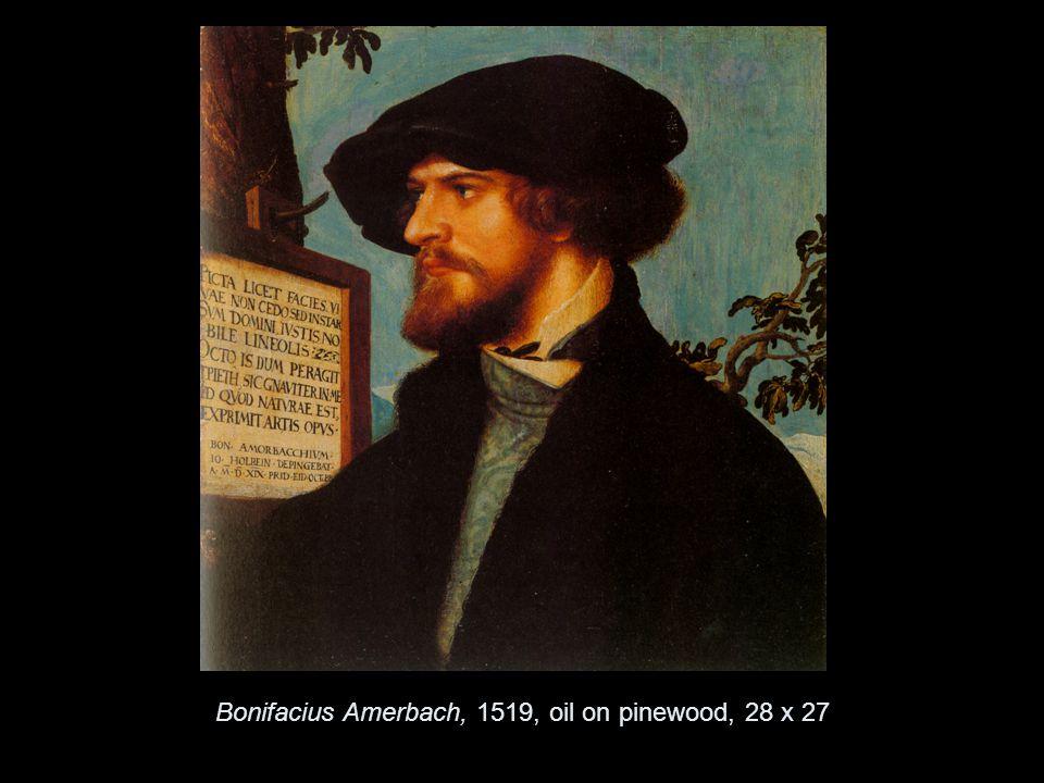 Bonifacius Amerbach, 1519, oil on pinewood, 28 x 27