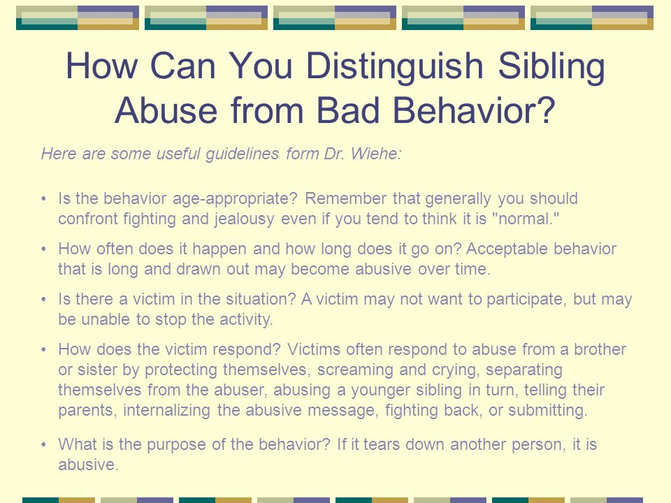 What Are the Effects of Sibling Sexual Abuse.
