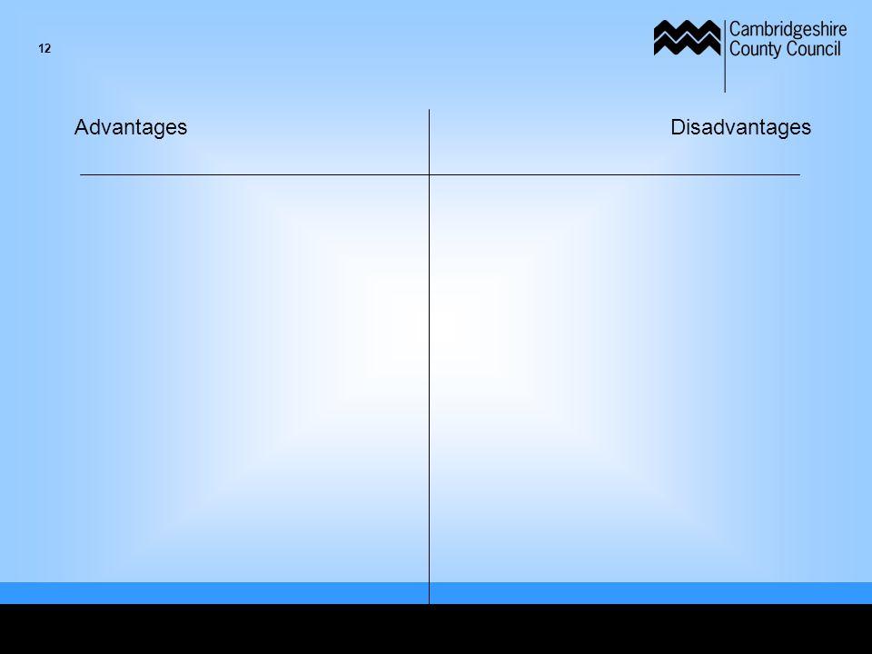 AdvantagesDisadvantages 12
