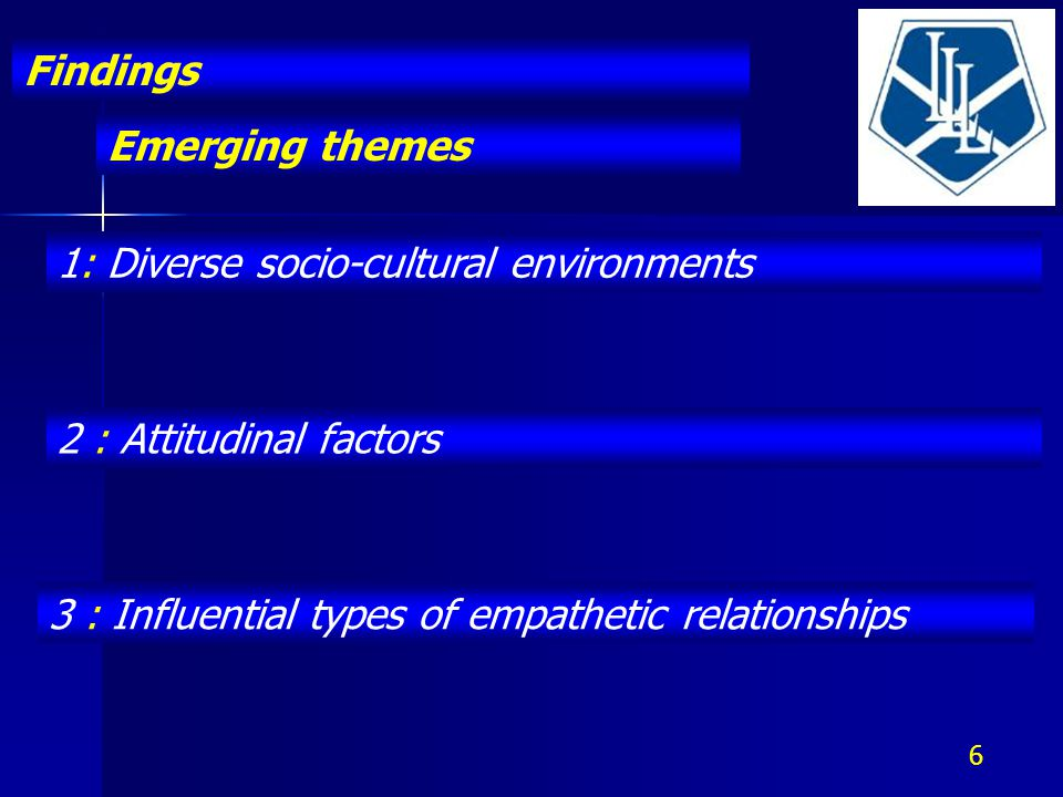 Emerging themes Findings 7 1: Diverse socio-cultural environments Different needs Motivation Barriers of class Cultural capital Limited resources Rules and regulations