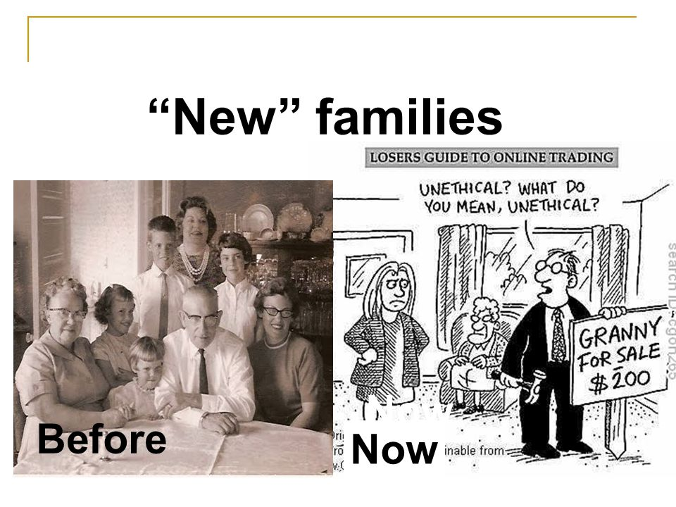 Before Now New families