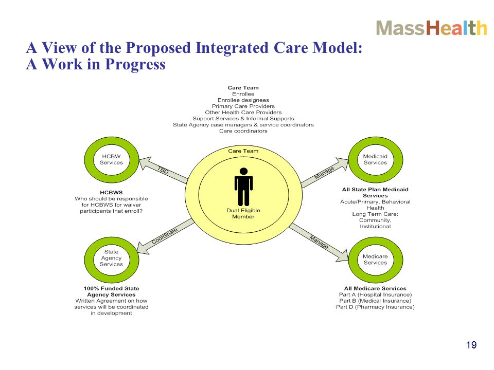 19 A View of the Proposed Integrated Care Model: A Work in Progress
