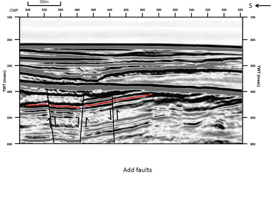S ⇃ ↾ ⇂ ↿ ⇃ ↾ Add faults 300m