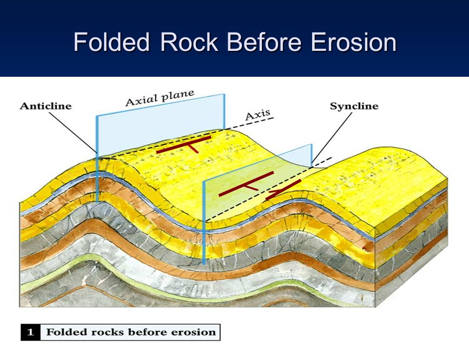 Folded Rock Before Erosion