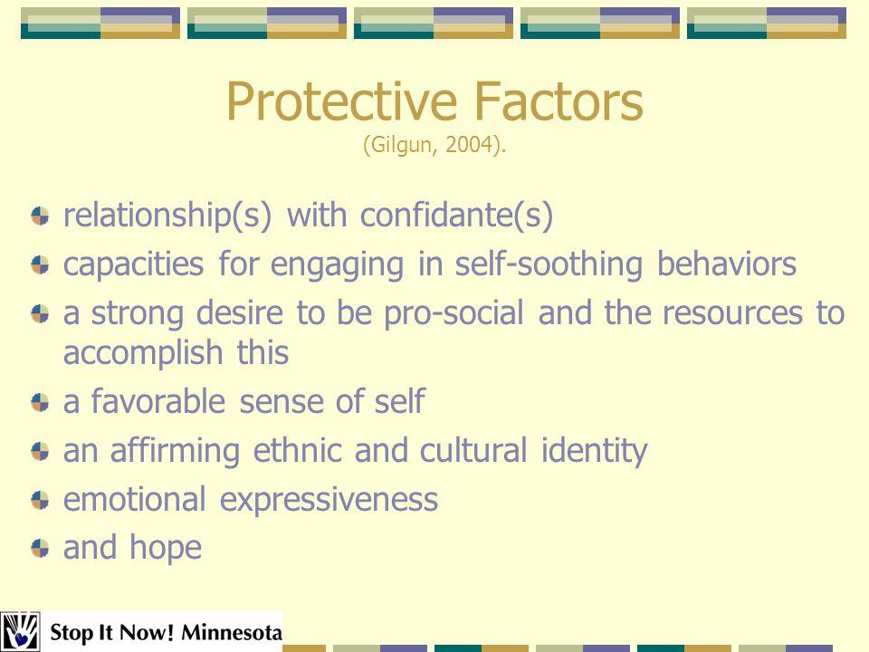 Protective Factors (Gilgun, 2004).