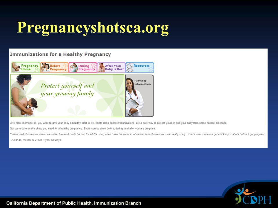 Pregnancyshotsca.org
