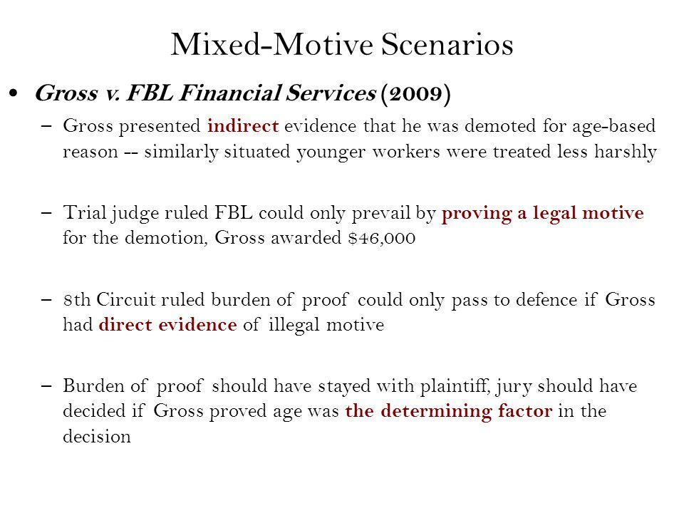 Mixed-Motive Scenarios Gross v.