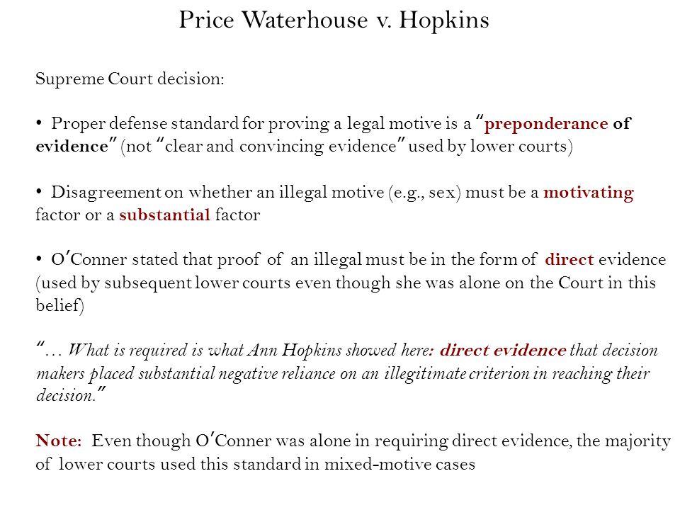 Price Waterhouse v.