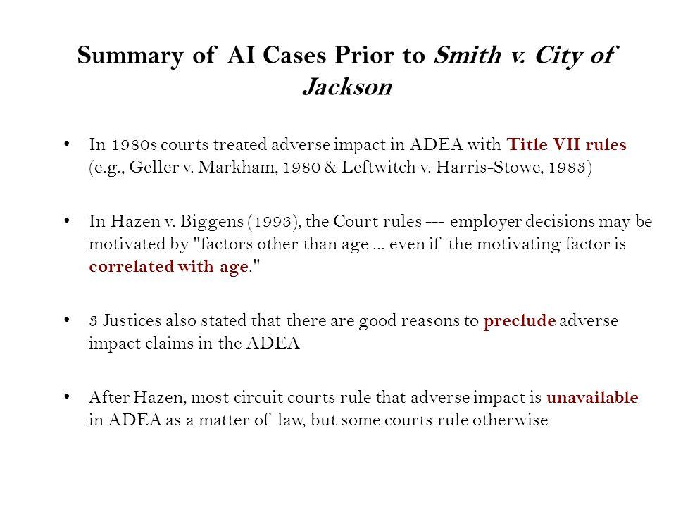 Summary of AI Cases Prior to Smith v.