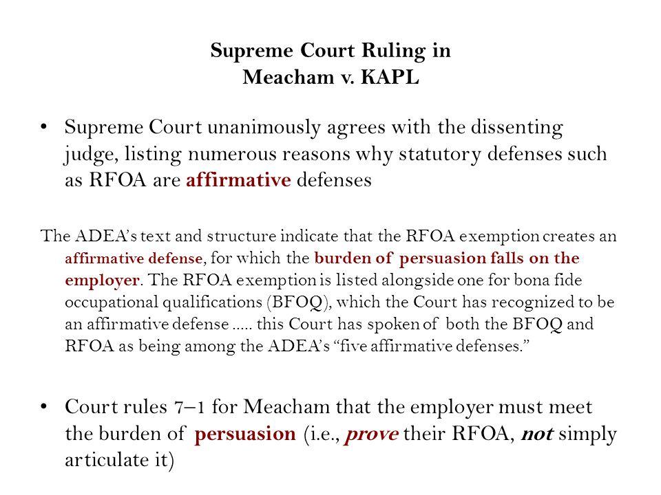 Supreme Court Ruling in Meacham v.