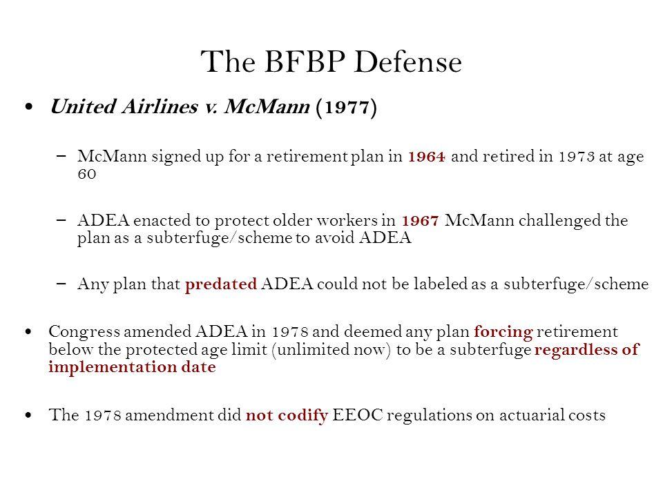 The BFBP Defense United Airlines v.