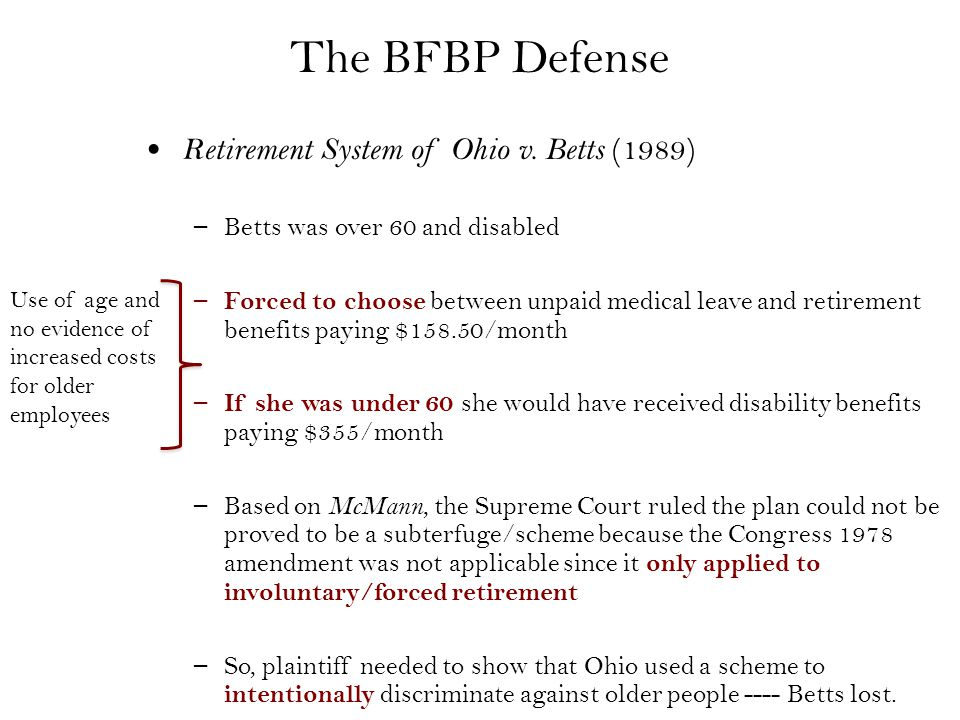 The BFBP Defense Retirement System of Ohio v.