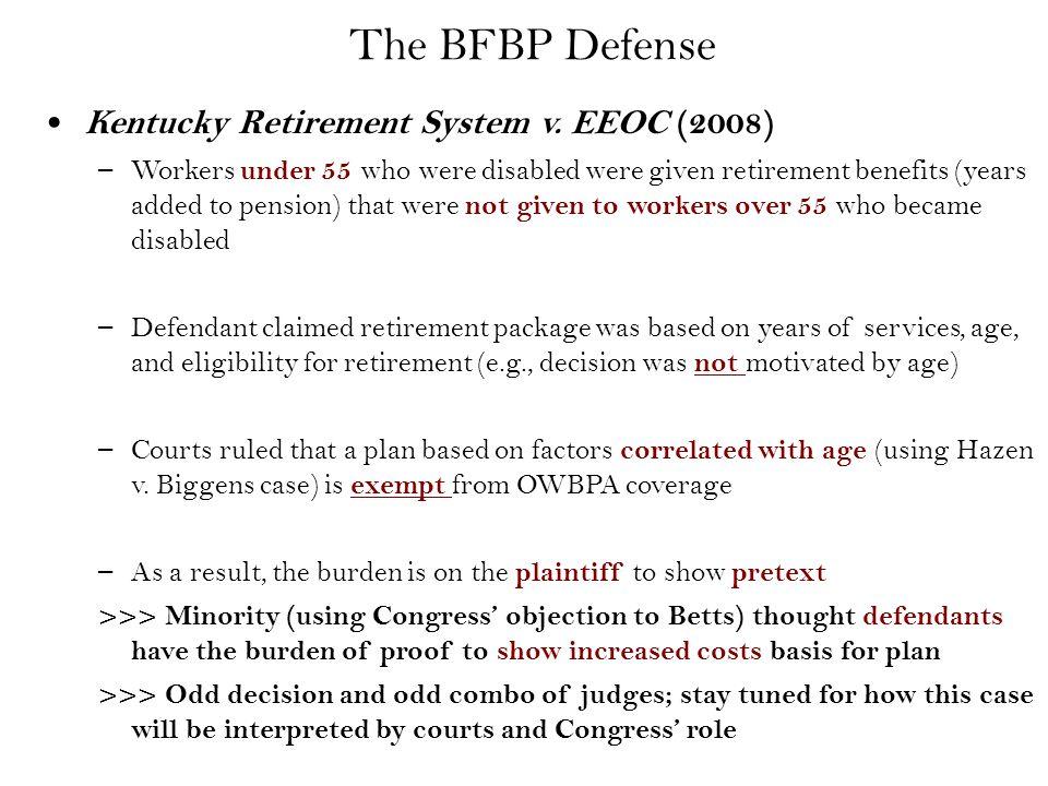 The BFBP Defense Kentucky Retirement System v.