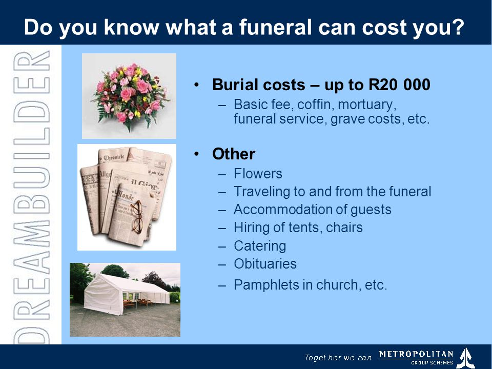 Do you know what a funeral can cost you.