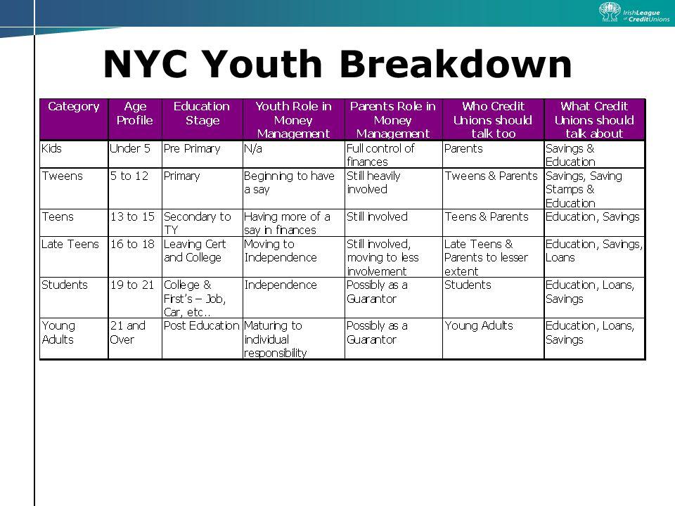 NYC Youth Breakdown