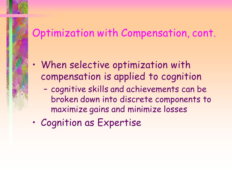 Optimization with Compensation, cont.