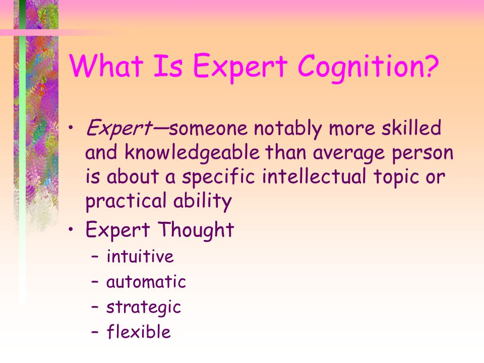 What Is Expert Cognition.