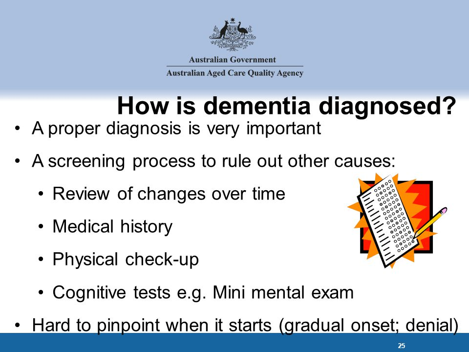 How is dementia diagnosed.