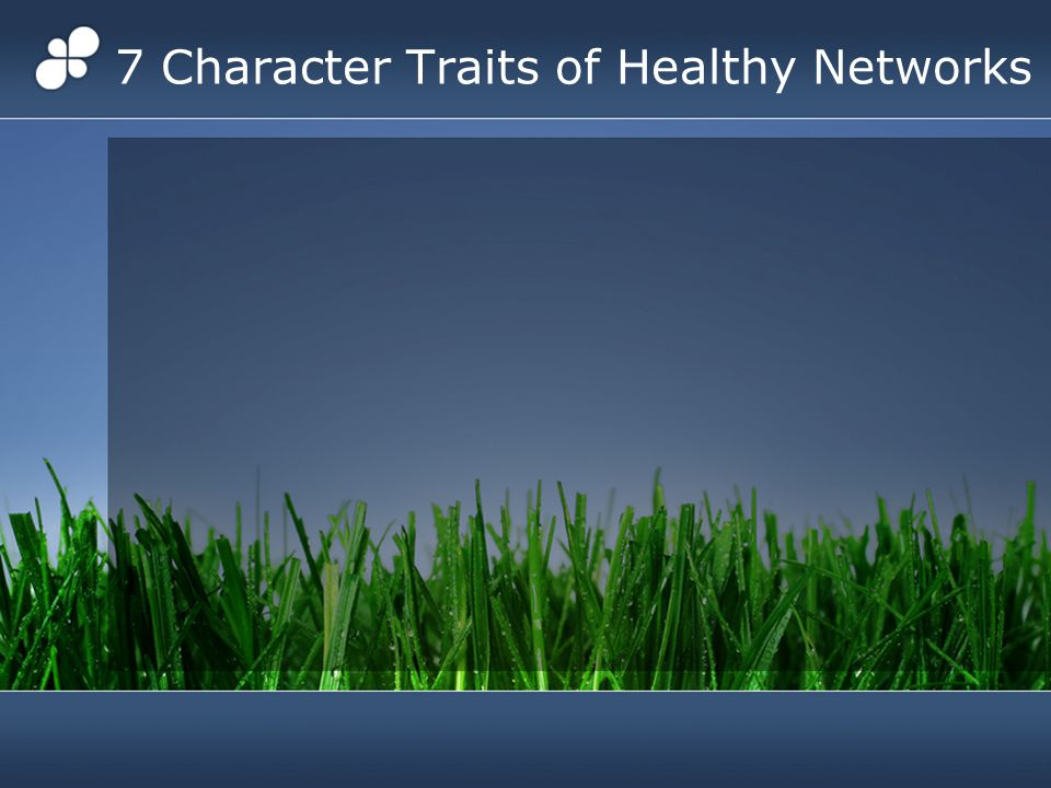 7 Character Traits of Healthy Networks