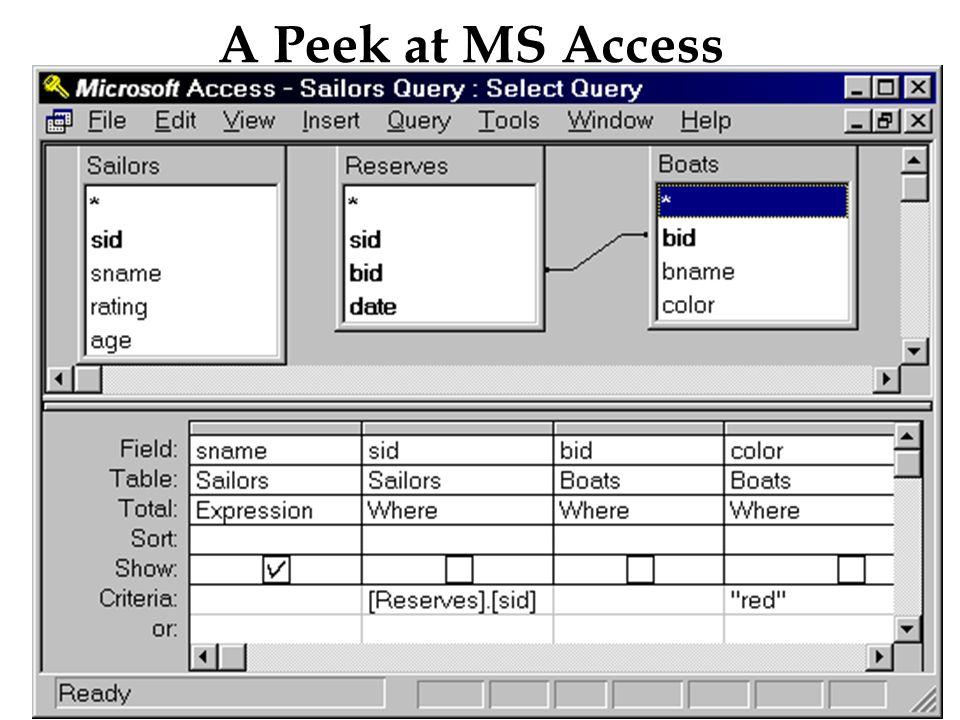20 A Peek at MS Access