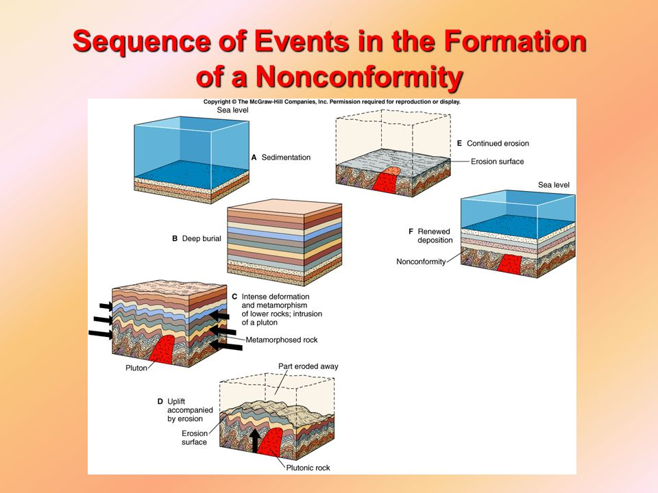 Sequence of Events in the Formation of a Nonconformity