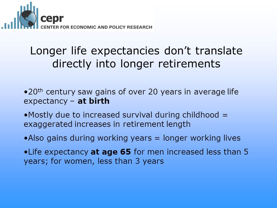 Expected Years of Life
