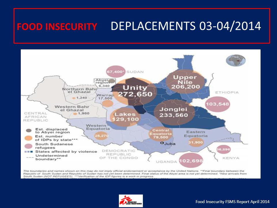 FOOD INSECURITY DEPLACEMENTS 03-04/2014 Food Insecurity FSMS Report April 2014