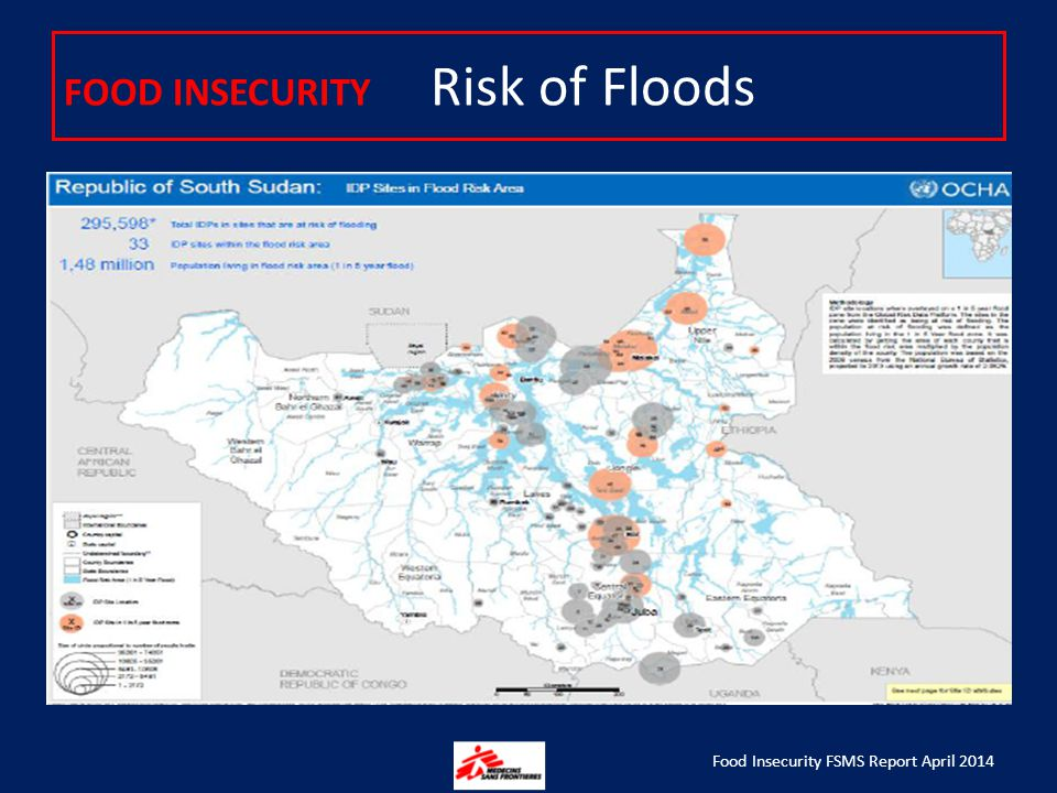 FOOD INSECURITY Risk of Floods Food Insecurity FSMS Report April 2014