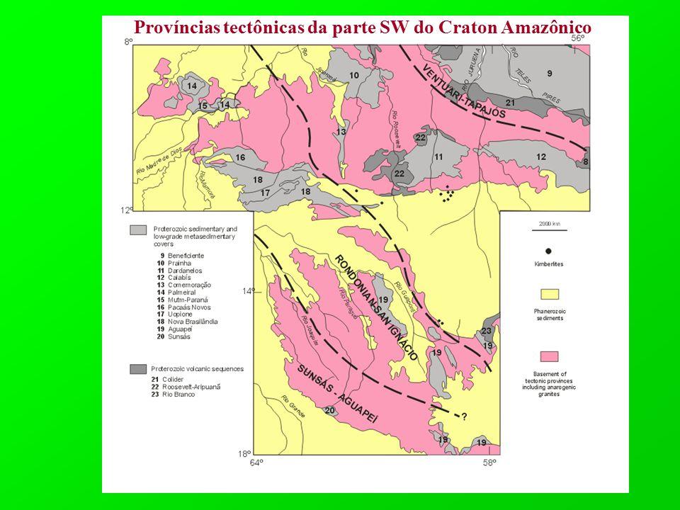 Províncias tectônicas da parte SW do Craton Amazônico