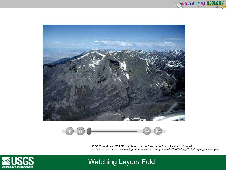 USGS/Tom Grace, TERCFolded layers in the Sangre de Cristo Range of Colorado.