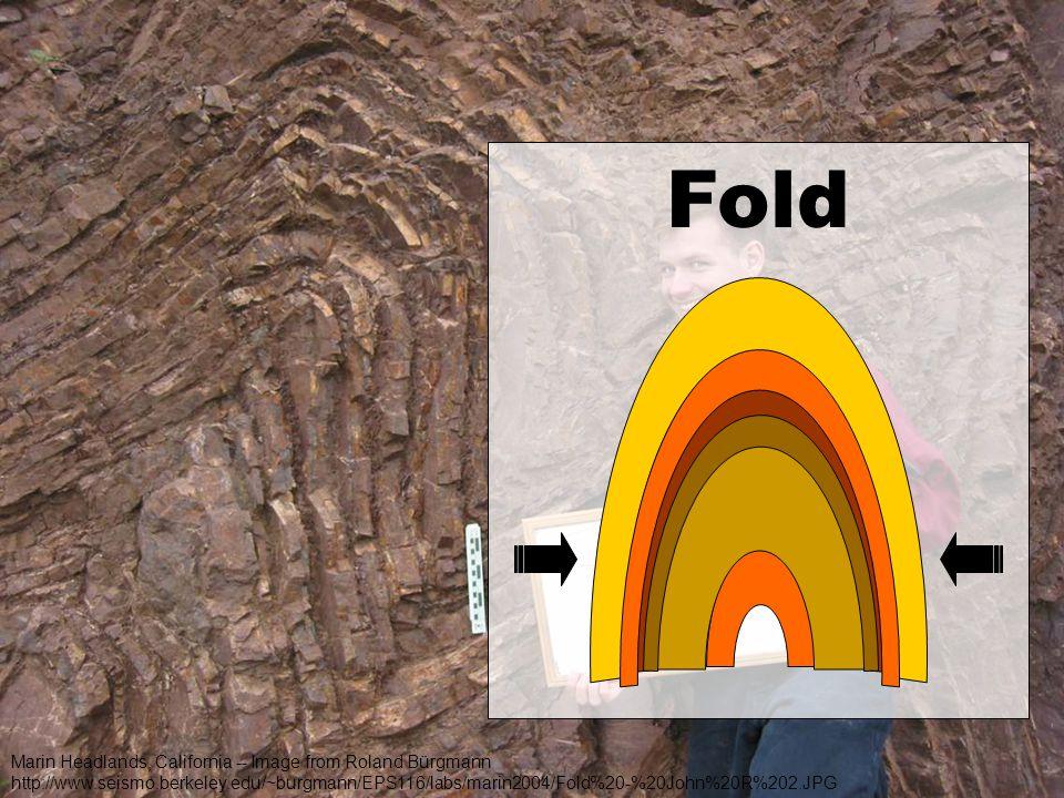 Fold Marin Headlands, California -- Image from Roland Bürgmann http://www.seismo.berkeley.edu/~burgmann/EPS116/labs/marin2004/Fold%20-%20John%20R%202.JPG