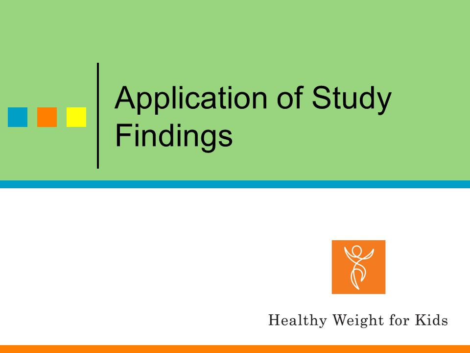 Application of Study Findings