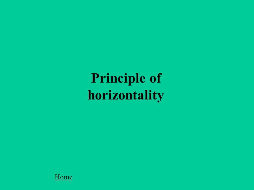 Principle of horizontality Home