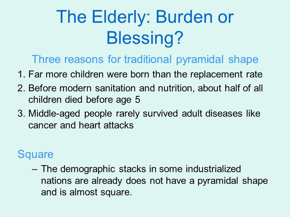 The Elderly: Burden or Blessing.