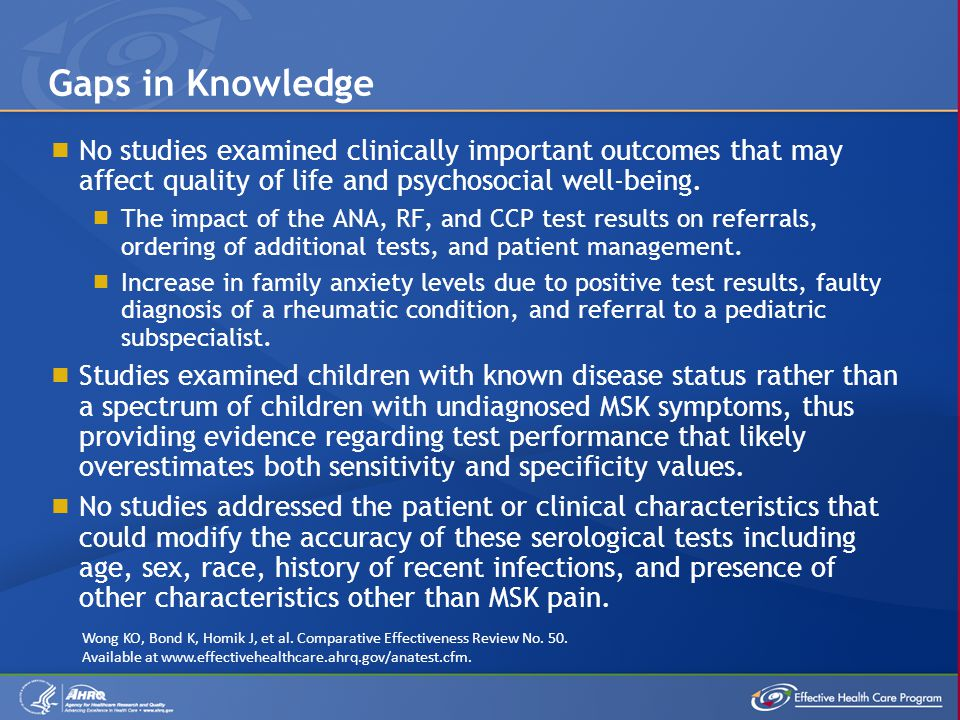  No studies examined clinically important outcomes that may affect quality of life and psychosocial well-being.