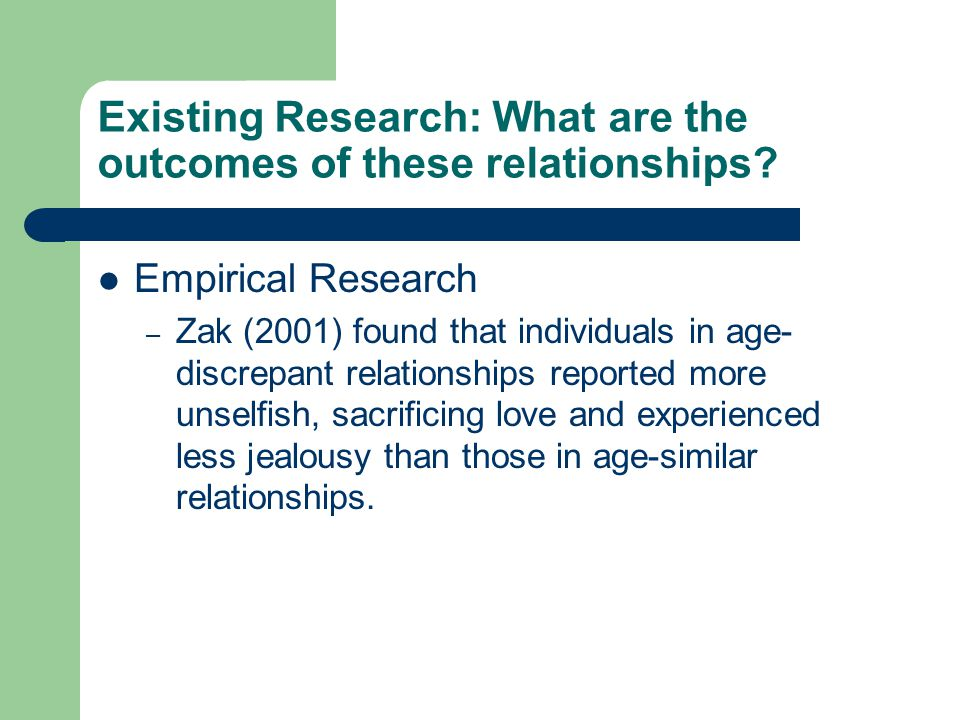 Existing Research: What are the outcomes of these relationships.