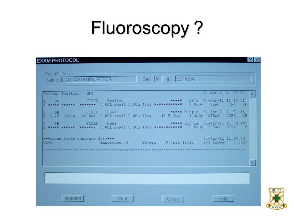 Fluoroscopy ?