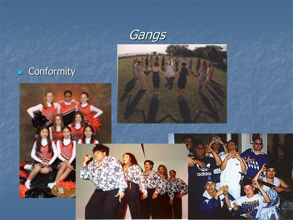 Gangs Conformity Conformity