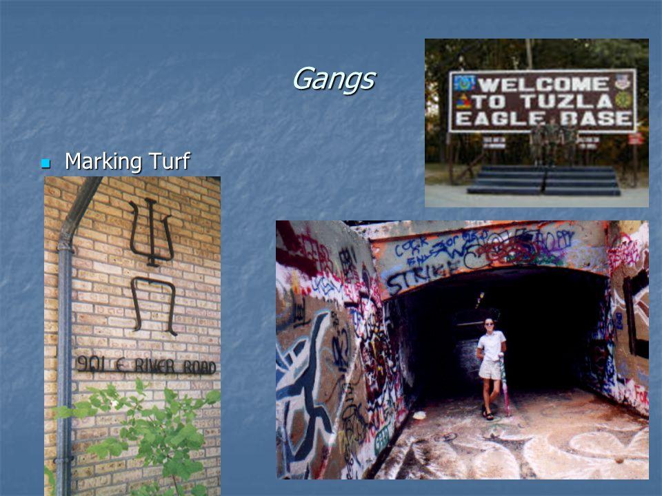 Gangs Marking Turf Marking Turf