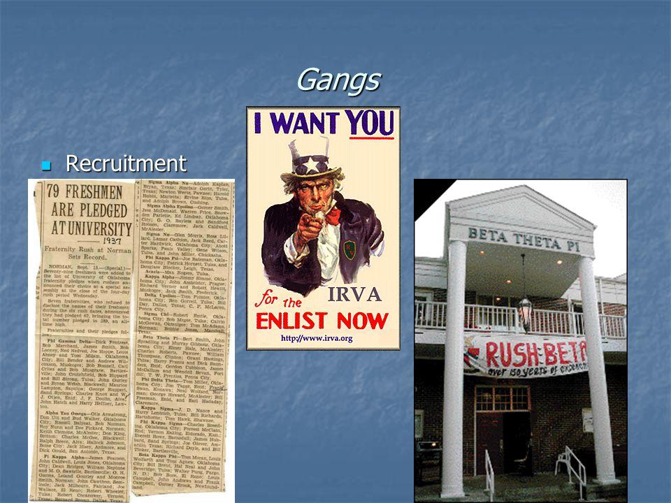 Gangs Recruitment Recruitment
