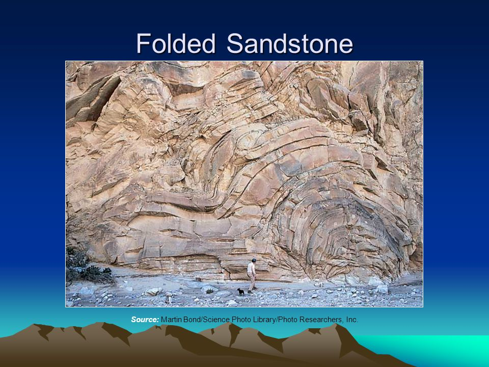 Folded Sandstone Source: Martin Bond/Science Photo Library/Photo Researchers, Inc.
