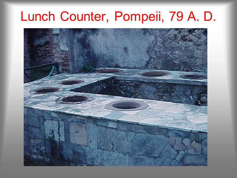 Grain Mill, Pompeii, 79 A. D.