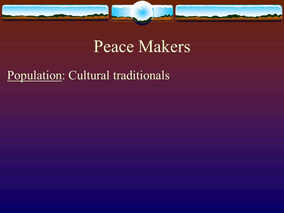 Population: Cultural traditionals