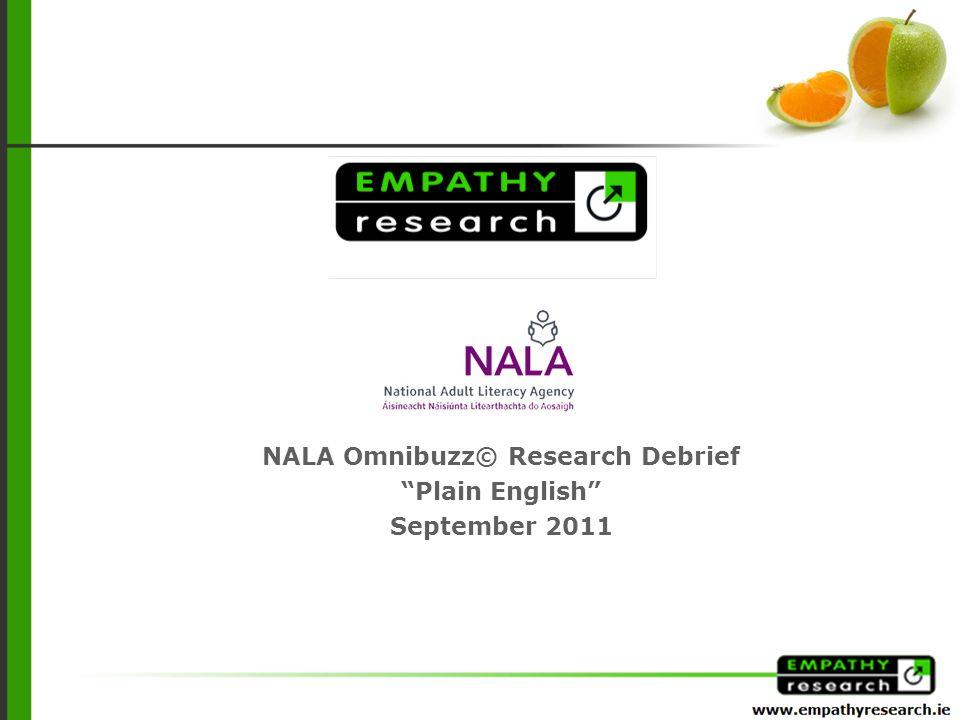 NALA Omnibuzz© Research Debrief Plain English September 2011