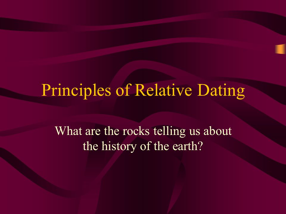 RELATIVE DATING: order or sequence known, but not the actual date of occurrence.