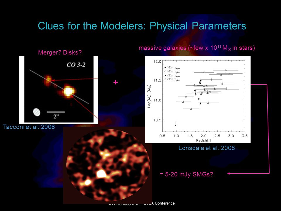 Desika Narayanan EVLA Conference Clues for the Modelers: Physical Parameters Merger.