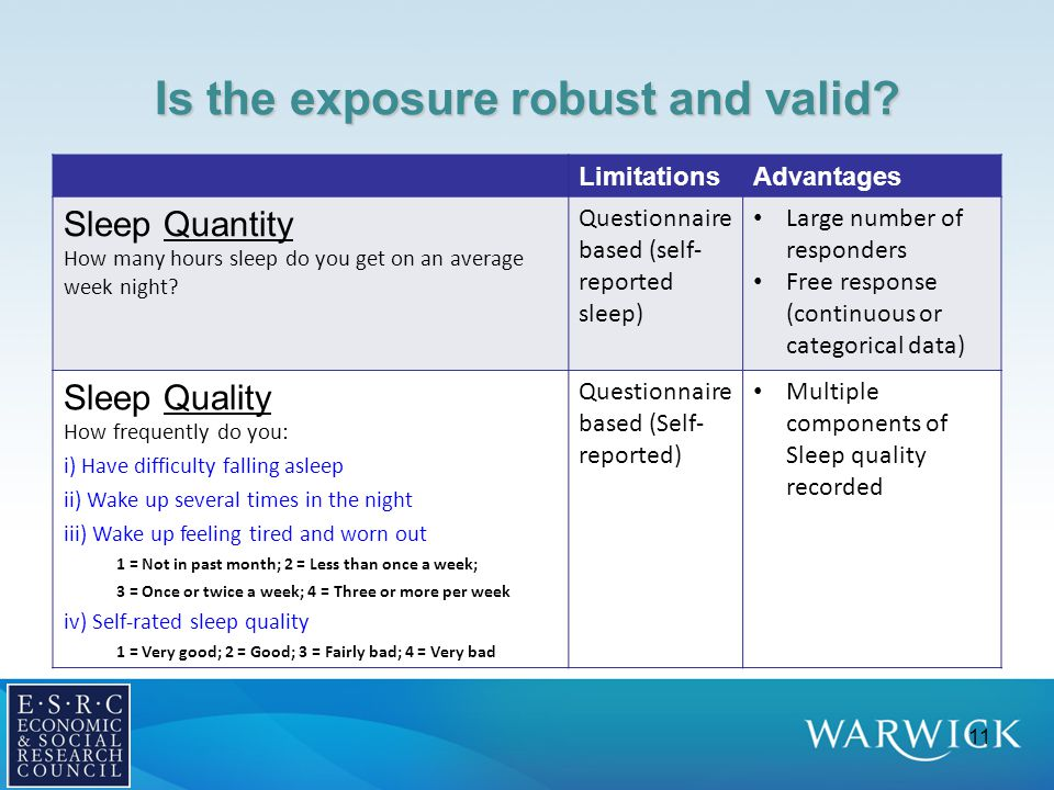 Is the exposure robust and valid.