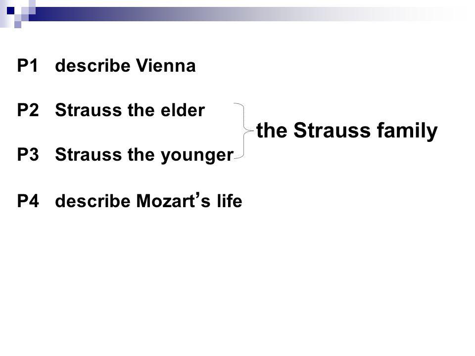 P2/3 describe the Strauss family True or false 1.