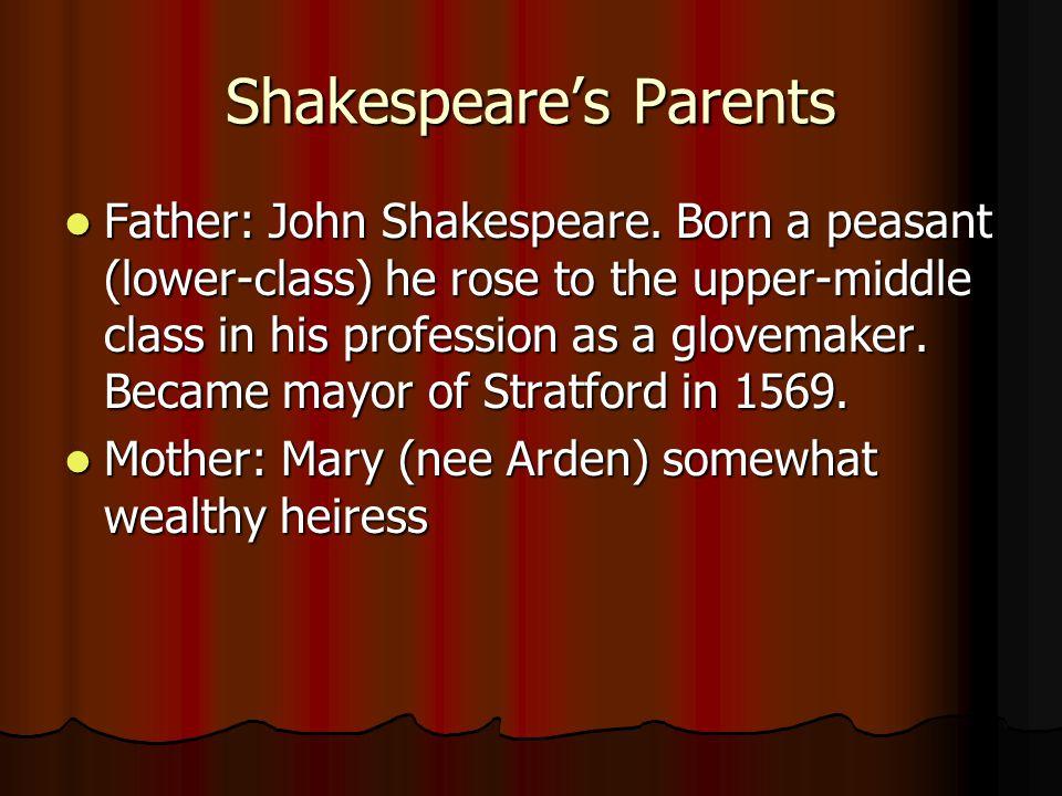 Shakespeare's Parents Father: John Shakespeare.