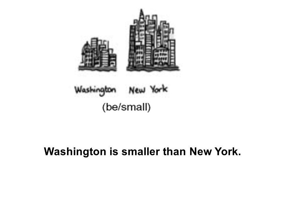 Washington is smaller than New York.